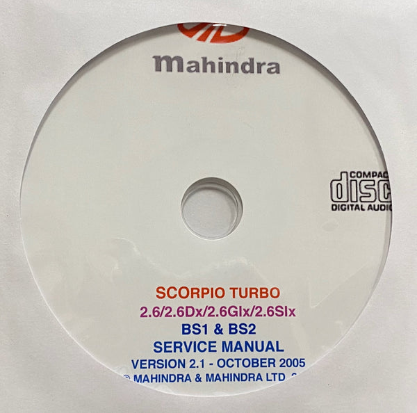2002-2006 Mahindra Scrorpio TURBO BS1 & BS2 Workshop Manual