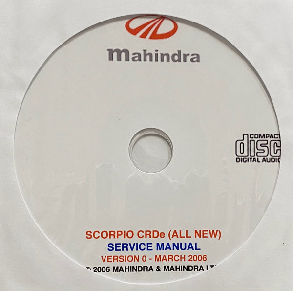 2006-2014 Mahindra Scorpio CRDe (All New) Workshop Manual