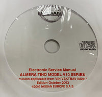 2000-2006 Nissan Almera Tino V10 Series Workshop Manual