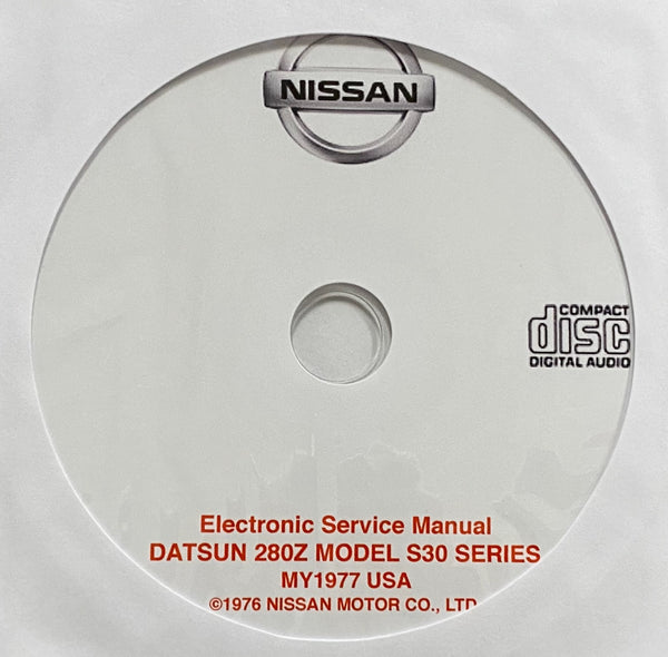 1977 Datsun 280Z Model S30 Series USA Workshop Manual