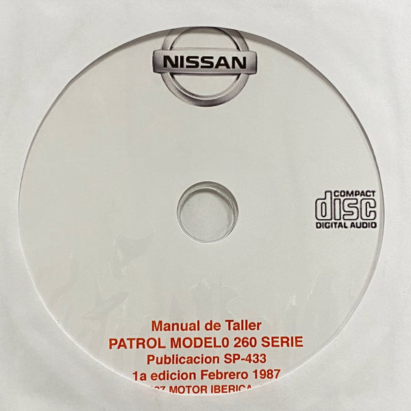1986-1990 Nissan Patrol Model 260 Workshop Manual in Spanish