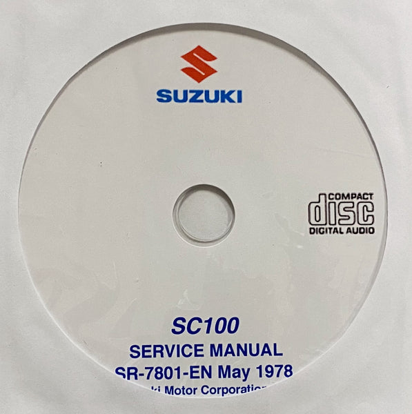 1978-1982 Suzuki SC100 Workshop Manual