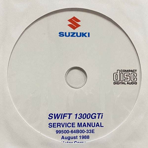 1988-2003 Suzuki Swift 1300GTi Workshop Manual