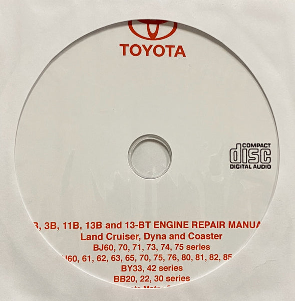 1994 Toyota B, 3B, 11B, 13B and 13BT Engine Workshop Manual