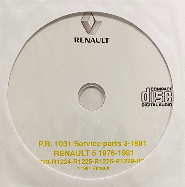 1976-1981 Renault 5 (including Le Car) Parts Catalog