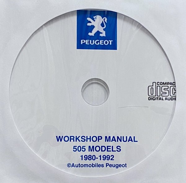 1980-1992 Peugeot 505 models Workshop Manual