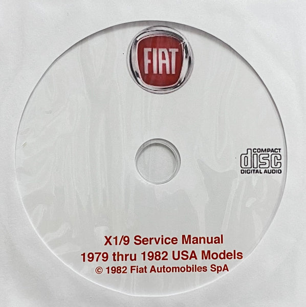 1979-1982 Fiat X1/9 USA Models Workshop Manual