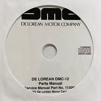 1981-1983 De Lorean DMC-12 Parts Catalog and Workshop Manual