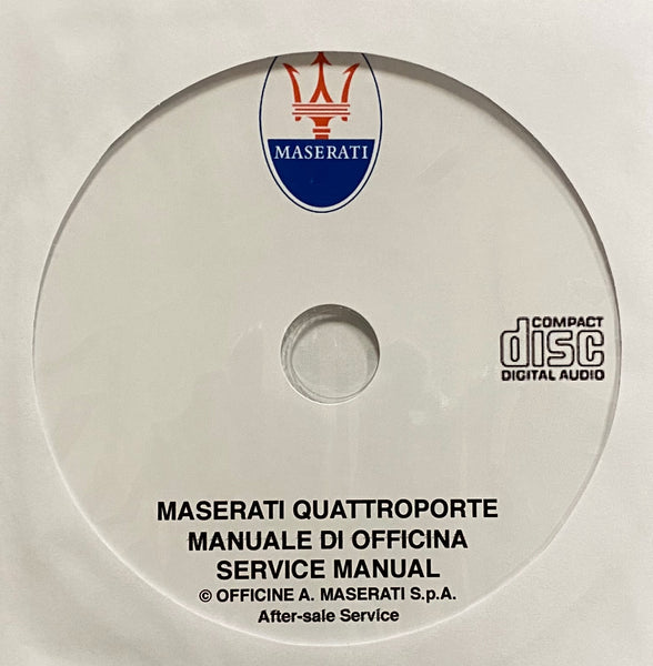 1979-1990 Maserati Quattroporte III Workshop Manual