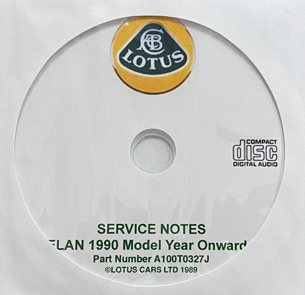 1990-1995 Lotus Elan Workshop Manual