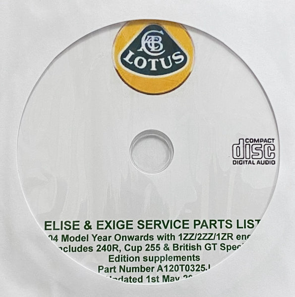 2004-2014 Lotus Elise and Exige Parts Catalog