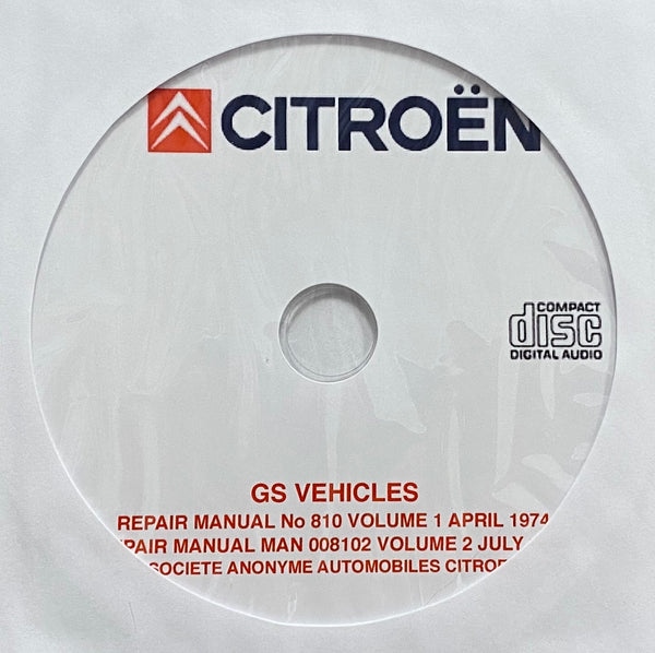 1970-1978 Citroen GS Workshop Manual