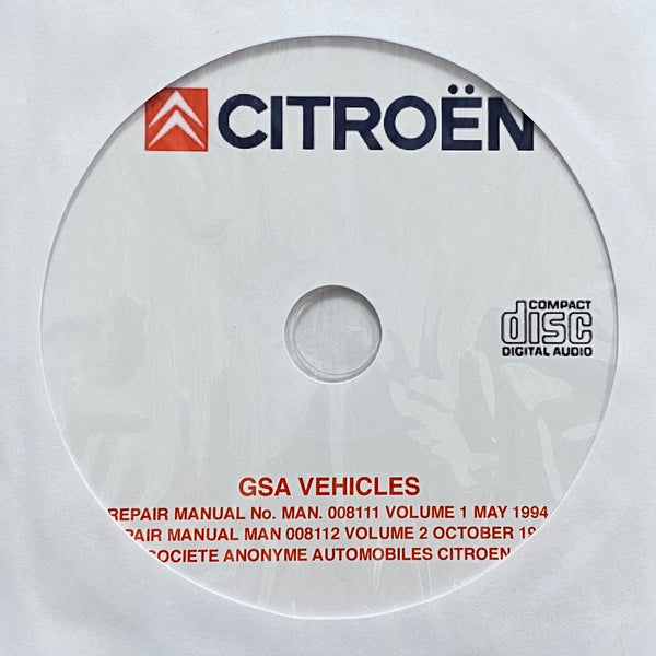 1979-1986 Citroen GSA Workshop Manual Supplement