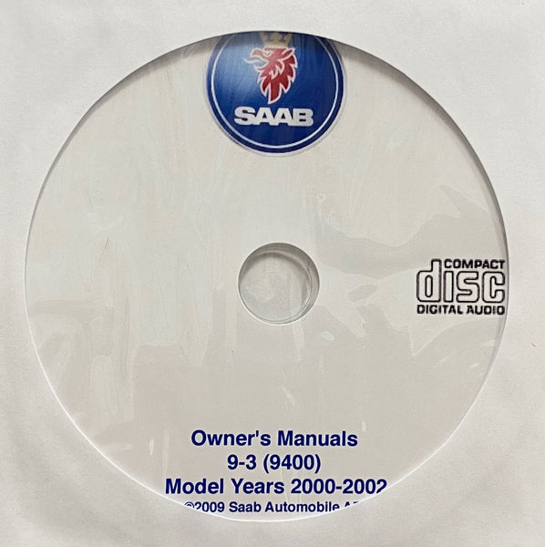 2000-2002 Saab 9-3 (9400) USA Owner's Manuals