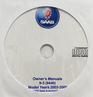 2003-2009 Saab 9-3 (9440) USA Owner's Manuals