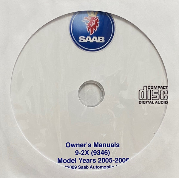 2005-2006 Saab 9-2X (9346) USA Owner's Manuals