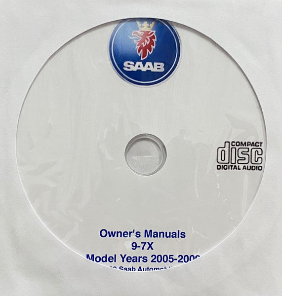 2005-2009 Saab 9-7X USA Owner's Manuals