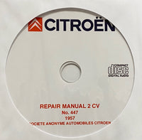 1948-1962 Citroen 2CV Workshop Manual