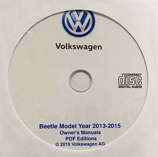 2013-2015 VW Beetle Owner's Manuals