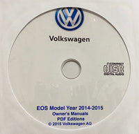 2014-2015 VW EOS Owner's Manuals