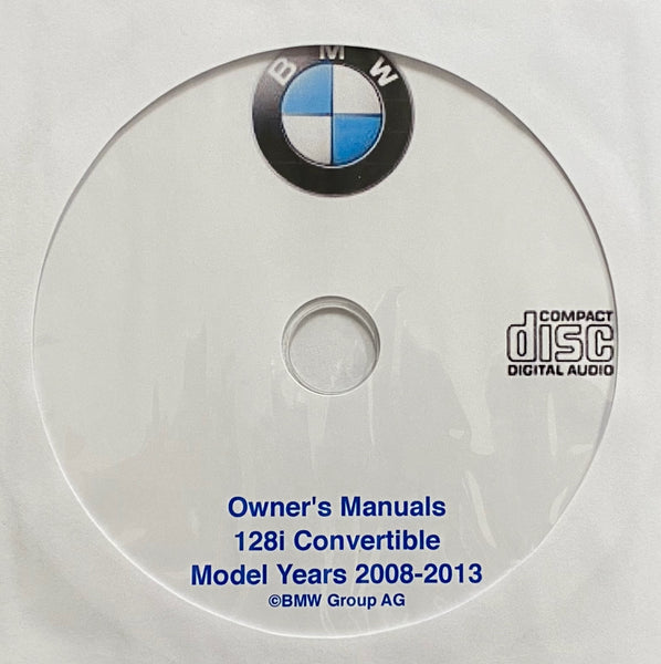 2008-2013 BMW 128i Convertible Owner's Manuals