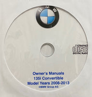 2008-2013 BMW 135i Convertible Owner's Manuals