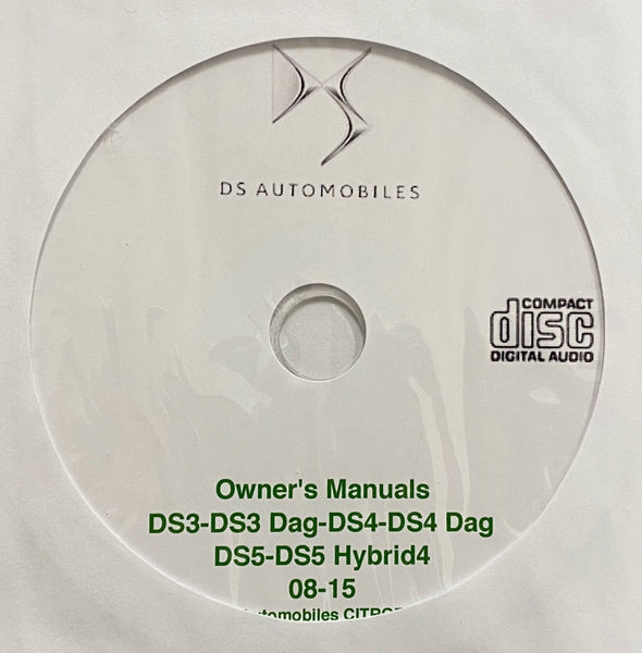 2014-2016 DS Automobiles DS3, DS3 Dag, DS4, DS4 Dag, DS5 and DS5 Hybrid4 Owner's Manuals