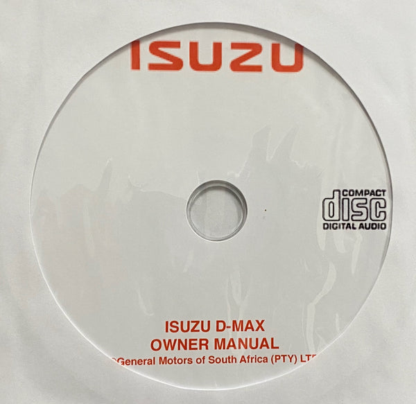 2002-2012 Isuzu D-MAX Owner's Manual