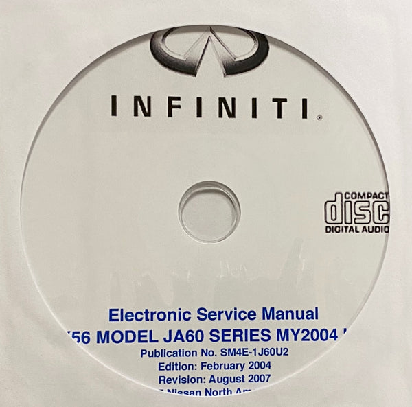 2004 Infiniti QX56 Model JA60 Series USA Workshop Manual