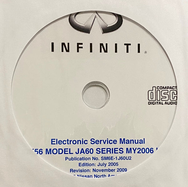 2006 Infiniti QX56 Model JA60 Series USA Workshop Manual
