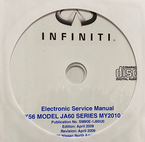 2010 Infiniti QX56 Model JA60 Series USA Workshop Manual