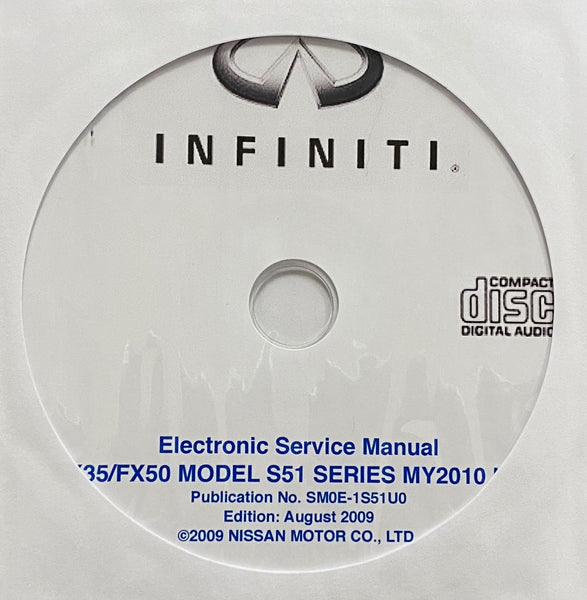 2010 Infiniti FX35/FX50 Model S51 Series USA Workshop Manual