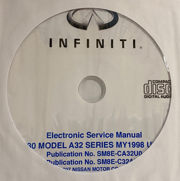1998 Infiniti I30 Model A32 Series US Workshop Manual