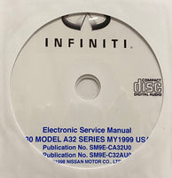 1999 Infiniti I30 Model A32 Series USA Workshop Manual