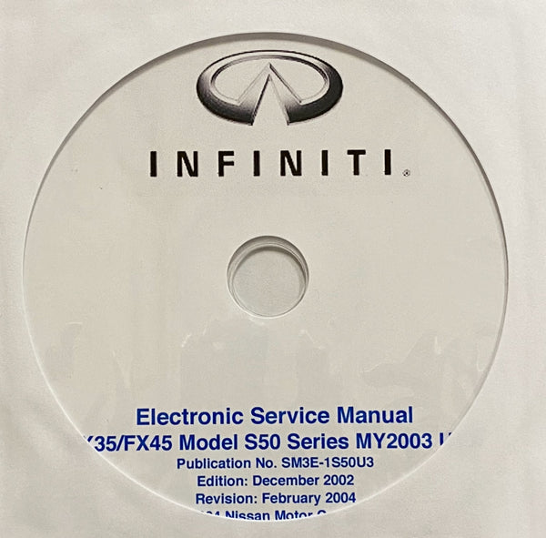 2003 Infiniti FX35/FX45 Model S50 Series USA Workshop Manual