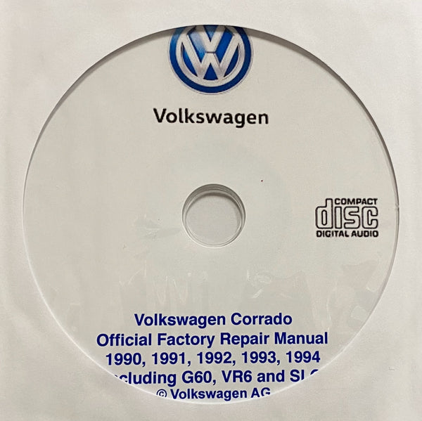1990-1994 VW Corrado Workshop Manual