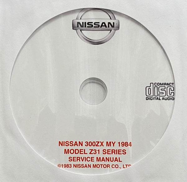 1984 Nissan 300ZX Model Z31 USA Workshop Manual