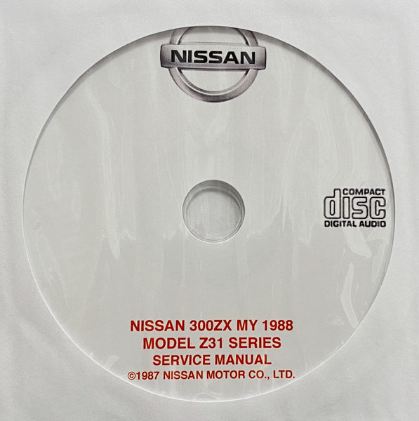 1988 Nissan 300ZX Model Z31 Series USA Workshop Manual