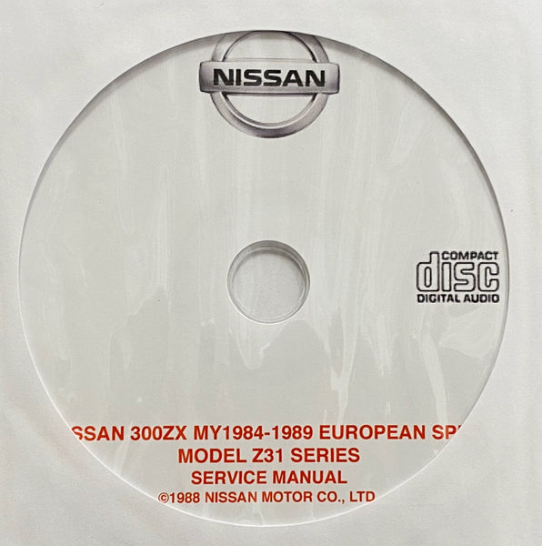 1984-1989 Nissan 300ZX Model Z31 Series EURO SPEC Workshop Manual