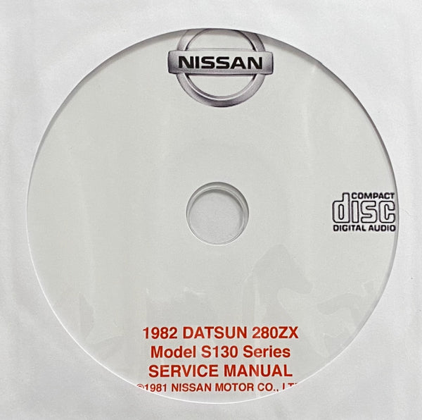 1982 Datsun 280ZX Model S130 USA Workshop Manual