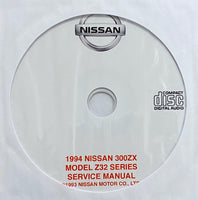 1994 Nissan 300ZX Model Z32 Series USA Workshop Manual