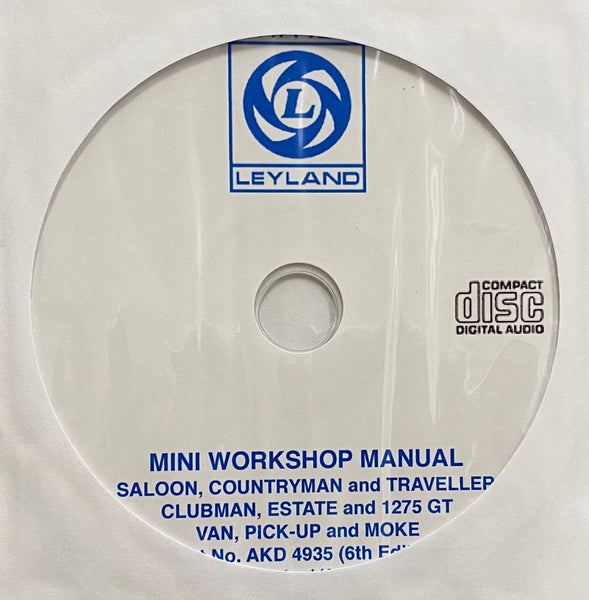 1959-1976 British Leyland Mini All Models Workshop Manual