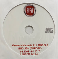 2003-2017 Fiat All Models European Spec Owner's Manual Collection