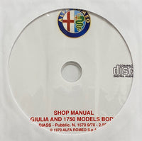 1969-1971 Alfa Romeo Guilia and 1750 Models Body Workshop Manual