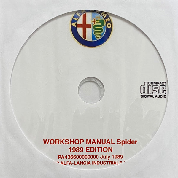 1989 Alfa Romeo Spider European Spec Workshop Manual