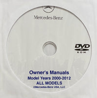2000-2012 Mercedes-Benz USA Models Owner's Manual Collection