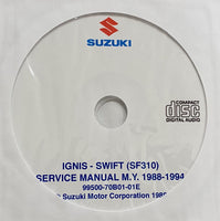 1988-1994 Suzuki Ignis and Swift (SF310) Workshop Manual