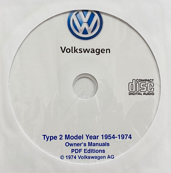 1954-1974 Volkswagen Type 2 Bus Owner's Manual Collection