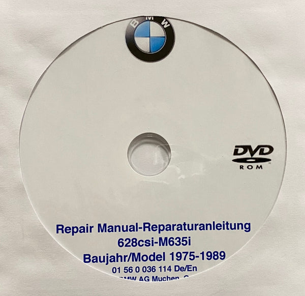 1975-1989 BMW 628CSi-M635CSi Workshop Manual