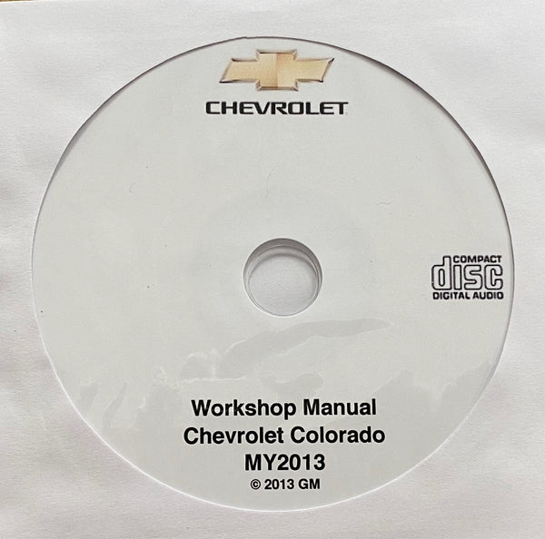 2013 Chevrolet Colorado Workshop Manual